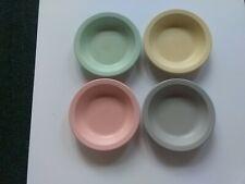 Vintage Dallas Ware Melamine Set of 4 Cereal Soup Bowls B-75 Pastels