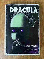 DRACULA by Bram Stoker ~ Modern Library #31 ~ VINTAGE~ McKnight Kauffer Jacket