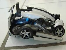 """TRANSFORMERS  Toy  5.75"""" 2008 hasbro silver car blue windshield robot"""