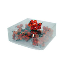 Orange Artificial Berry, Box of 120 Individually Wired
