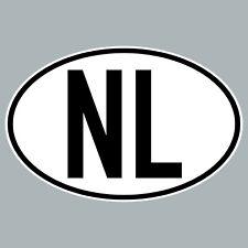 NL Aufkleber Sticker NLD NED Niederlande Länderkennzeichen Auto Schild Zeichen