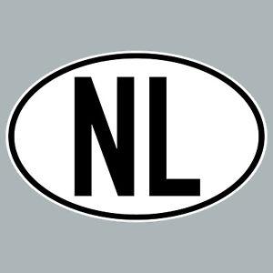 NL Aufkleber Auto Sticker NED NLD Niederlande Länderkennzeichen 4061963019849