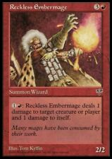 MTG 1x RECKLESS EMBERMAGE - Mirage *Rare Damege NM*