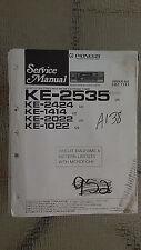 Pioneer ke-2535 2424 1414 2022 1022 service manual original repair book stereo