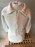 Tommy Hilfiger 6 Year Boys White Knitted Cardigan Pre Loved