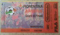 FIORENTINA JUVENTUS BIGLIETTO MARATONA QUARTI DI FINALE DI COPPA ITALIA 1997/98