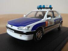 Antigua miniatura 1:43 Scale Carr RS020 Peugeot 306 de 1999 Policía Nacional 091
