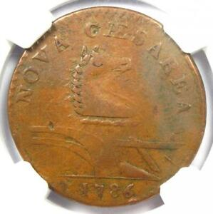 1786 New Jersey Colonial Coin (Beam Straight). Certified NGC XF45 - $1,350 Value