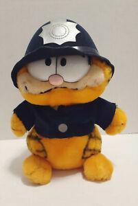 "Vintage 1981 Dakin & Co Garfield Police Officer Plush Stuffed Animal Toy 10"""