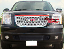 Fit 2007-2013 GMC Yukon Stainless Steel Punch Grille Grill Insert With Logo Show