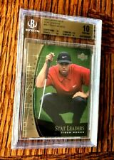 2001 Upper Deck Tiger Woods Rookie  SUNDAY RED  BGS  10 PRISTINE
