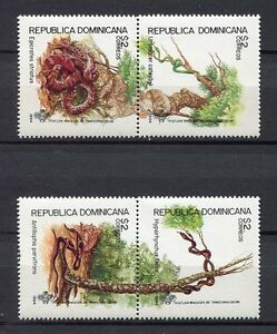 27970) Dominicaine Rep. 1994 MNH Neuf Snakes 2 Paires