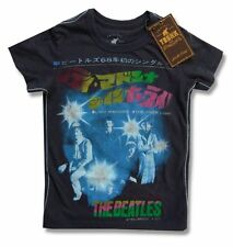 "THE BEATLES & TRUNK LTD ""LADY MADONNA"" JAPAN BLACK YOUTH T-SHIRT KIDS 2 NEW"