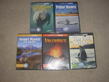 New Sealed Lot Encounter Earch DVD's Volcanoes Polar Bears Florida Nature World