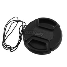 10PCS 58mm DSLR Camera Lens Cap Center Pinch Filter Snap on + String Wholesale