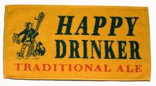 HAPPY DRINKER TRADITIONAL ALE Pub Beer BAR TOWEL