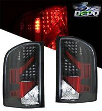 07-09 Chevrolet Silverado Truck LED Tail Lights BLACK DEPO PAIR