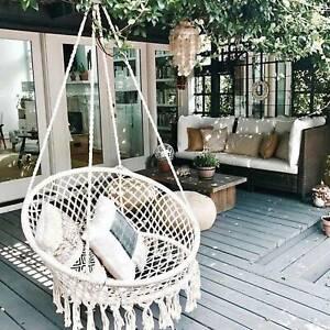 Comfort Hanging Hammock Rope Swing Chair Macrame Soft Outdoor Indoor Garden Seat