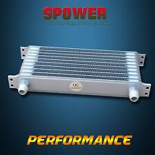 Universal 10 Row AN10 Engine Transmission 262mm Oil Cooler Trust Style Silver