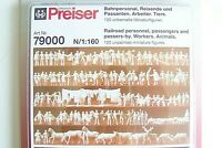 N Preiser 79000 RR Workers, Passengers, Animals  VARIOUS UNPAINTED FIGURES KIT
