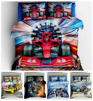 3D Racing Cars Bedding Set Motorcycle Duvet Cover Pillowcase Comforter Cover