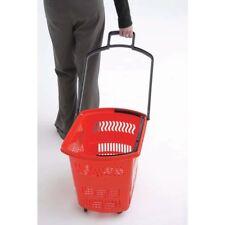 """Kartwheels K-Bsk-Rol-45-Re Red Plastic Rolling Grocery Basket Set 24""""L x 15""""W x"""