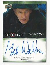 Matthew Walker The X Files Ufos & Aliens Paranormal Script Autograph Card Auto