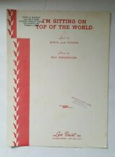 I'm Sitting on Top of the World Sheet Music - 1953