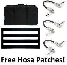 New Pedaltrain Classic 2 Guitar Effects Pedal Board! Hosa Patch Cables!