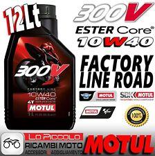 12 LITRI OLIO MOTORE MOTUL 300V 300 V 10W40 10 W 40 100% SINTETICO FACTORY LINE