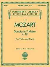 Mozart Sonata in F Major K376 for Violin and Piano String NEW 050486484