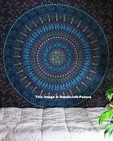 Large Indian Elephant Mandala Tapestry Wall Hanging Bedspread Beach Mat Blanket