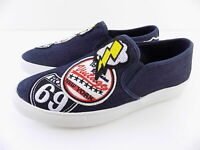 Steve Madden Men's Wasdin Slip-on Sneakers Denim Navy Fabri Loafers Size 9 & 11