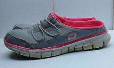 Skechers Lightweight Gray Synthetic Slip on Slide Mule Sandal Women's Shoe 8M 38