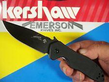 KERSHAW EMERSON - Black CQC-6K Hinderer frame-lock G-10 knife wave KAI 6034BLK