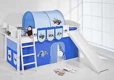 Juego de cama alta litera con Tobogán NUEVO 4105 lilokids Tractor Azul
