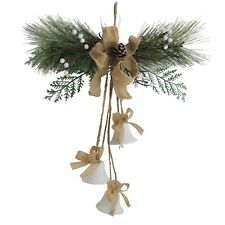Christmas Door Hanger Artificial Spray with White Berries and white Bells