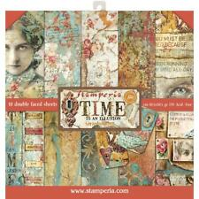 "Stamperia 12""x12"" Scrapbook Paper Pad ""Time is an Illusion"" Steampunk images"