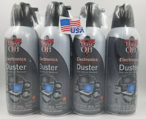 Dust-off Compressed Air Electronic Duster 10 Oz 4 Pack
