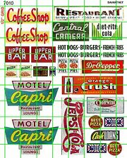 7010 MOTEL COFFEE SHOP HOT DOGS BURGER FRIES SODA SIGN ADVERTISING DAVE'S DECALS