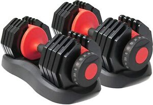 Pair of Adjustable Dumbbells 40kg weight train barbells home REDUCED TO CLEAR