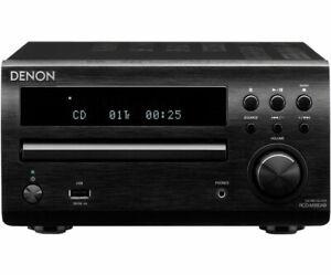 Denon RCD-M39 DAB CD FM USB MP3 Remote Micro Hi Fi Stereo System Black DM39 60W
