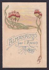CALENDARIETTO 1899 SEMESTRINO - senza EDITORE e/o PERSONALIZZAZIONE