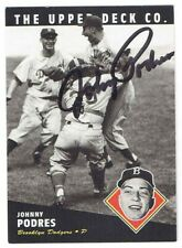 JOHNNY PODRES 1994 Upper Deck Co. All Time Heroes Autographed Baseball Card