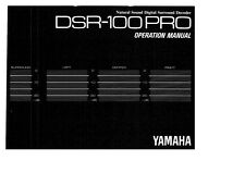 Yamaha DSR-100PRO Decoder Owners Manual