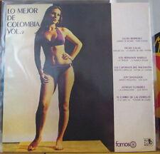 LO MEJOR DE COLOMBIA VOLUMEN 2 SEXY COVER COLOMBIA PRESS LP FAMOSO