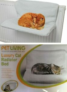 Pet Living Luxury Cat Radiator Fleece Bed Warm Kitten Puppy Cradle Basket 6025