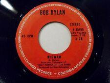 Bob Dylan Wigwam / Copper Kettle 45 1970 Columbia Self Portrait Vinyl Record