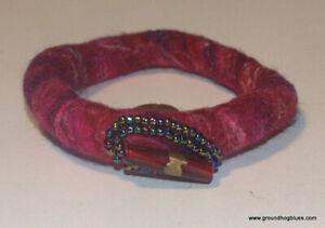 Artist Made Fun Funky Felted Beaded Unusual Bracelet