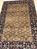 4' x 6' New Indian Bakhtiari Design Oriental Rug - Hand Made - 100% Wool